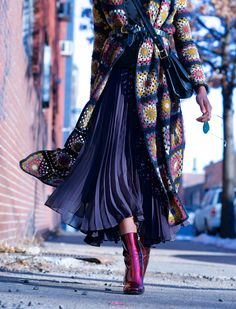 pleated maxi skirts, #wheredidugetthat #karenbritchick