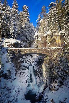 Foto: Beautiful Christine Falls, Rainier National Park, Washington