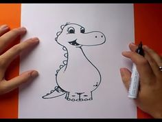 Como dibujar un dinosaurio paso a paso 4 | How to draw a dinosaur 4 - YouTube