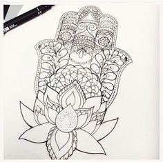 hamsa with lotus - Google Search