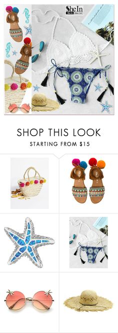 """Graphic Print Tassel Tie Crochet Bikini Set"" by pavicmartina ❤ liked on Polyvore featuring Free People, Elina Linardaki and BillyTheTree"