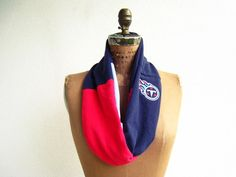 Tennessee Titans T Shirt Infinity Scarf / Navy Blue Red by ohzie