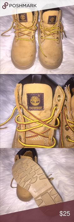Toddlers Timberland boots Used size 8 toddlers Timberland waterproof boots in tan (feel free to ask anything) Timberland Shoes Boots