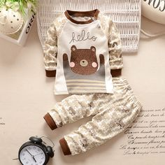 Nice New 2016 baby boy clothes cotton baby girl clothing sets cartoon long-sleeved t-shirt+pants infant clothes 2pcs suit - $18.84 - Buy it Now!