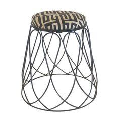 INDIGI DESIGNS | Loop Stool in Black - Furniture - 5rooms.com