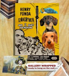 Dachshund Vintage Poster Canvas Print  - 12 Angry Men Movie Poster NEW Collection by Nobility Dogs