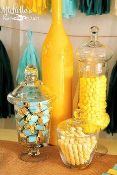 Michelle's Party Plan-It: A Yellow & Aqua party