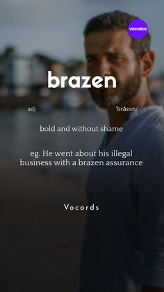 bold and without shame Weird Words, Rare Words, New Words, English Phrases, Learn English Words, English Grammar, Italian Language, Korean Language, Spanish Language