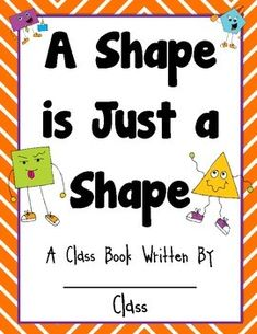 Freebie - Classbook Please enjoy this Common Core aligned shape freebie! Your students will love using their creativity to create a picture using shapes! I hope you. Kindergarten Writing, Preschool Math, Math Classroom, Math Activities, 2d Shapes Kindergarten, Classroom Ideas, Preschool Shapes, Kindergarten Centers, Math Math