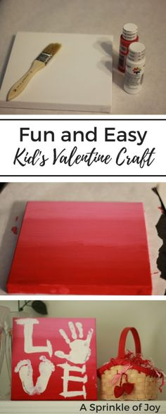 Need a fun and simple craft to do with your kids for Valentine's Day? Check out this simple hand print project!