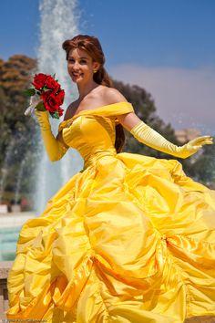 Belle cosplay Disney Princess Beauty & the Beast Costume Gown Dress Belle Cosplay, Disney Cosplay, Cosplay Dress, Costume Dress, Disney Princess Belle, Princesse Walt Disney, Princesses Disney Belle, Disneyland Princess, Princess Beauty