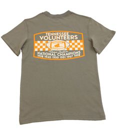 UT Championship SS TEE Grey – Throw it back to Championships Won in the past to get ready for the ones to come in the future with this Game Day tee. tyalexanders.com