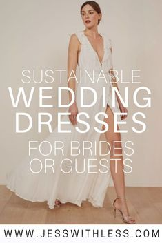 List of Sustainable & Eco Friendly Dresses Fit For a Wedding (Bride or Guest). Take a look at our favorite picks eco-friendly wedding dress brands. Wedding Gowns, Bridal Dresses, Bridesmaid Dresses, Wedding Outfits, Wedding Tips, Wedding Planning, Ethical Clothing, Ethical Fashion, Vegan Clothing
