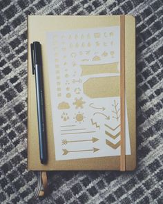 Essentials Bullet Stencil for Bullet Journal Filofax Midori by MooAndTheBoo  https://www.etsy.com/listing/254026243/essentials-20-bullet-stencil-for-bullet