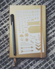 Essentials Bullet Stencil for Bullet Journal Filofax Midori by MooAndTheBoo  https://www.etsy.com/listing/254026243/essentials-20-bullet-stencil-for-bullet