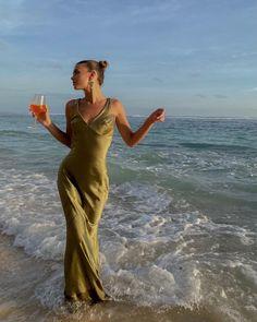 Olive Green, Aesthetics, Bridesmaid, Wedding Ideas, Dreams, Bridal, Beach, Pretty, Model