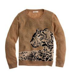 J.Crew - Girls' leopard sweater