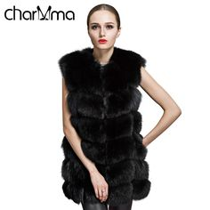>> Click to Buy << CharMma New Women Padded Jacket Overcoat Parka Fashion Winter Sleeveless Faux Fox Fur Leather Thick Coat Plus Size Outerwear #Affiliate
