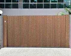 Moderne poorten in hout