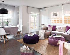 Comodoos Interiores -Tu blog de Decoracion-: Una vivienda en morado y gris