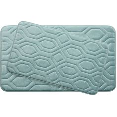 Turtle Shell Large 2 Piece Premium Micro Plush Memory Foam Bath Mat Set
