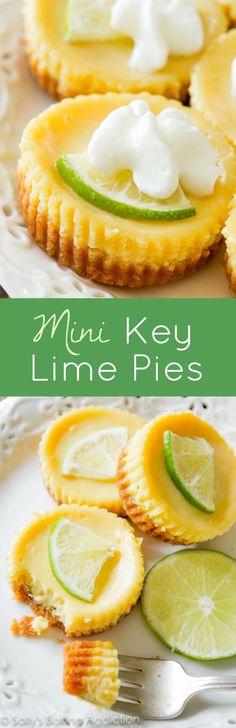 What's better than key lime pie? INDIVIDUAL mini key lime pies! http://sallysbakingaddiction.com