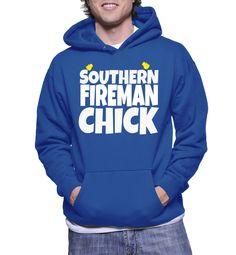 Southern Fireman Chick Hoodie