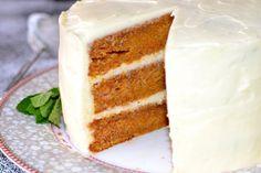 Swedish Recipes, Fika, Creme Fraiche, Vanilla Cake, Frosting, Sweets, Snacks, Dishes, Desserts