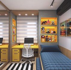 Boy's bedroom ideas and decor inspiration; from kids to teens Are you planning to decorate your boy's bedroom? If that is the case, you will need Boy Bedroom Ideas to get started. in bedroom boys Cool and Stylish Boys Bedroom Ideas, You Must Watch ! Small Bedroom Designs, Small Room Bedroom, Trendy Bedroom, Small Rooms, Dream Bedroom, Tiny Bedroom Design, Small Bedroom Interior, Bedroom 2018, Comfy Bedroom