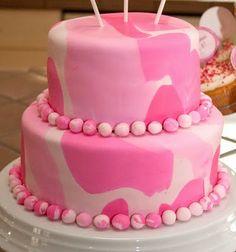 Pink Camo Birthday, Camo Birthday Cakes, Camouflage Birthday Party, Camouflage Cake, Camo Cakes, Birthday Ideas, 5th Birthday, Army Camouflage, Birthday Parties