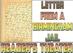 2 pages, parts for 8 readers - easy to use for Martin Luther King Day or Black History Month