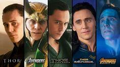 Loki in different Avengers series Loki Thor, Loki Laufeyson, Marvel Dc Comics, Marvel Avengers, Loki Art, Avengers Series, Thomas William Hiddleston, Tom Hiddleston Loki, Loki God Of Mischief