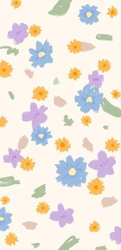 Vintage Flowers Wallpaper, Cute Pastel Wallpaper, Soft Wallpaper, Watercolor Wallpaper, Cute Patterns Wallpaper, Kawaii Wallpaper, Flower Wallpaper, Cartoon Wallpaper, Simple Iphone Wallpaper