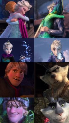 ALL OF THEM frozen rise of the guardians they are similar souls to each other especially anna and tooth and kristoff and bunny and hans and pitch