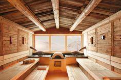 Feel comfortable and relax in one of the many saunas of Hotel Alpenhof **** near to Hintertux Glacier, Austria. // Poczuj się komfortowo i zrelaksuj w jednej z licznych saun Hotelu Alpenhof **** u podnóża lodowca Hintertux, Austria. Saunas, Hotel Alpenhof, Piscina Spa, Globe Picture, Indoor Sauna, Portable Sauna, Sauna Heater, Tiered Seating, Rustic Master Bathroom