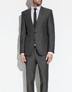 charcoal grey suit from zara $278 ... every guy needs a great looking suit so please don't rent a suit that might not fit right when you can buy a great suit like this