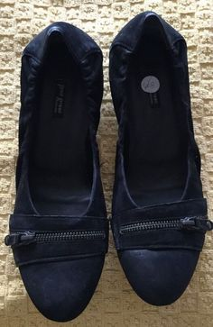 Womens Paul Green Black Leather Comfort Ballet Flat Slip On Shoes 8M  | eBay
