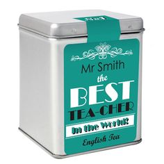 Personalised The Best Tea Slogan Tea & Tin