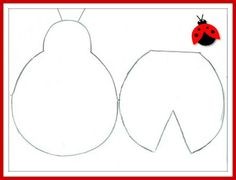 joaninha com molde colorida Ladybug Crafts, Ladybug Party, Lady Bug, Diy Paper, Paper Crafts, Bee Crafts For Kids, Free Stencils, Felt Decorations, Mug Rugs