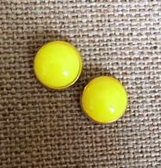 Hey, I found this really awesome Etsy listing at https://www.etsy.com/listing/231586745/gorgeous-yellow-studs