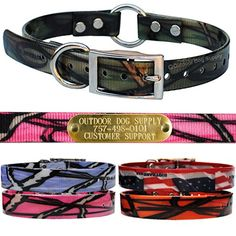 Outdoor Dog Supply's Wide Pattern Ring in Center Dog Collar Strap with Custom Brass Name Plate (Green Camo) *** Continue to the product at the image link. (This is an affiliate link) Dog Id Tags, Outdoor Dog, Pink Camo, Dog Supplies, Brass, Belt, Plate, Dogs, Ring
