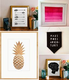 Poppytalk: 10 Rad DIY Art Ideas for Your Walls (From Printables to Painting) Good.