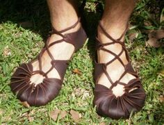 Saxon sandals---I want these!!!! - First class maker of mocassins, ceramics, sculpture, art, raw food, baskets, books, woollies, other stuff... and round things