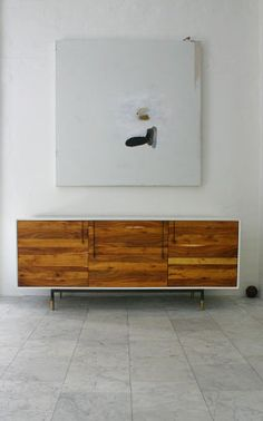 Lake credenza console by bddw - like this one...would be more $ than a simple table tho...taller legs maybe as well