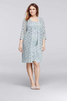 http://www.davidsbridal.com/Product_allover-sequin-lace-plus-size-short-jacket-dress-9530wwp_plus-size-dresses