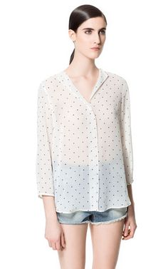 Image 1 of STAR PRINT BLOUSE from Zara