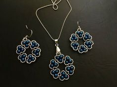Stylish beaded jewelry set. Pendant & Earrings - YouTube