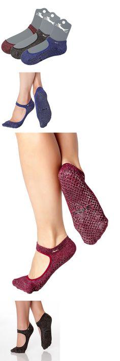Socks 66078: Shashi Open Top Non-Slip Fitness Socks For Pilates Barre Yoga 3 Pack -> BUY IT NOW ONLY: $47.99 on eBay!