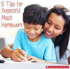 5 Tips for Successful Math Homework Here are some helpful tips to make math homework run more smoothly for everyone! #math #ScholasticMath #parenting