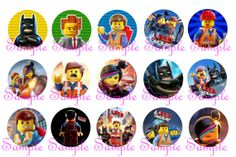 LEGO Movie 75 Circle 1 Inch INSTANT DOWNLOAD Bottle by DigitalNow, $1.50